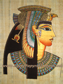 Papyrus Painting of Queen Cleopatra - (20X30 cm)