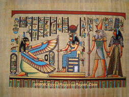 The Goddess Maat; Isis; Horus and Nefertari  - (20X30 cm)