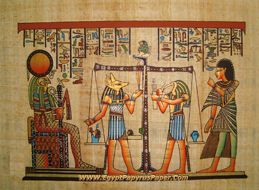 Horus judgment Egyptian Papyrus Painting - (20X30 cm)