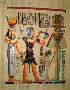 The Mummification Egyptian Papyrus Painting - (20X30 cm)