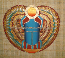 Papyrus Painting of God Khepri